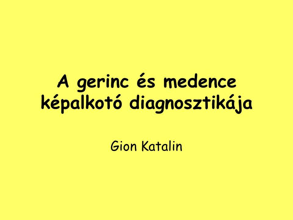 A gerinc és medence képalkotó diagnosztikája Gion Katalin