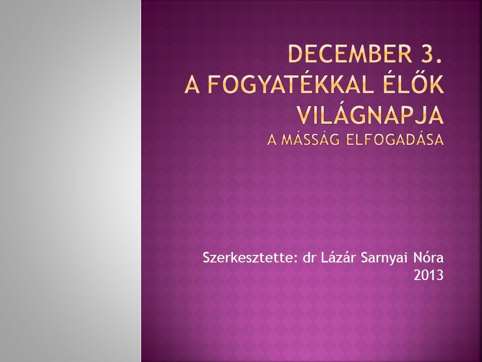 Szerkesztette: dr Lázár Sarnyai Nóra 2013