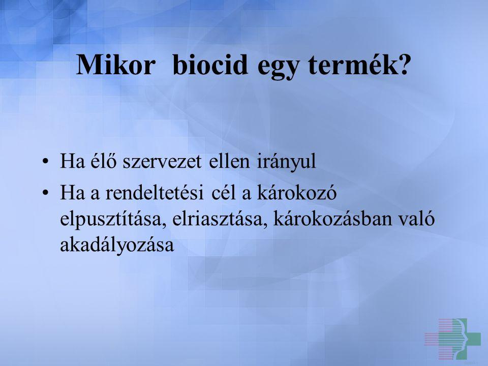 Lehetséges biocidok…