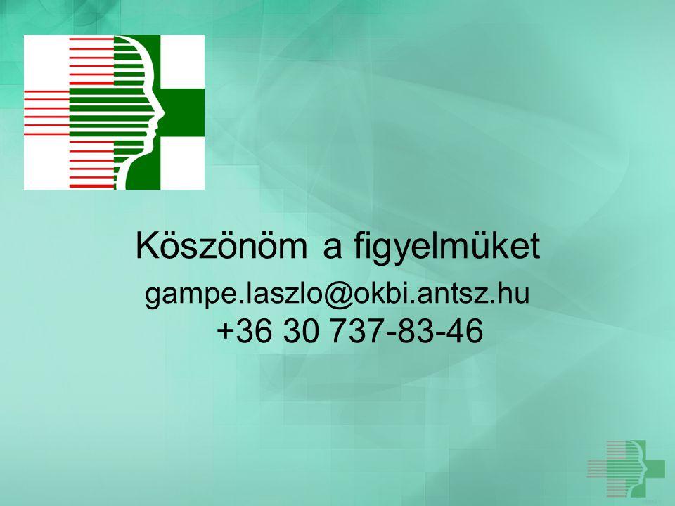 Köszönöm a figyelmüket gampe.laszlo@okbi.antsz.hu +36 30 737-83-46