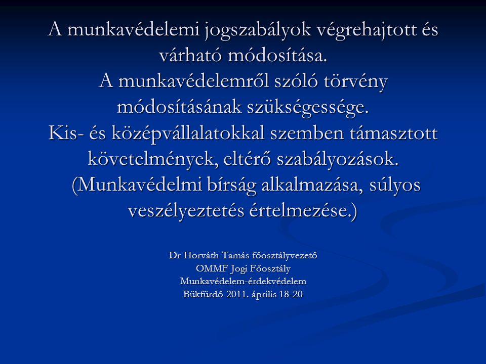 A foglalkozás-egészségügyi szolgáltatásról szóló 27/1995.