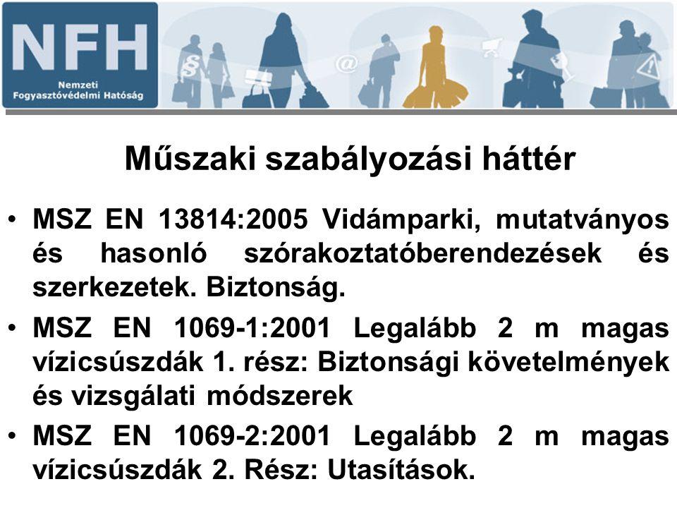 Műszaki szabályozási háttér MSZ EN 13814:2005 Vidámparki, mutatványos és hasonló szórakoztatóberendezések és szerkezetek. Biztonság. MSZ EN 1069-1:200