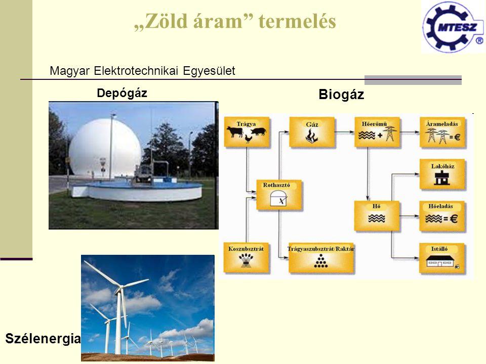 """""""Zöld áram"""" termelés Biogáz Szélenergia Magyar Elektrotechnikai Egyesület Depógáz"""