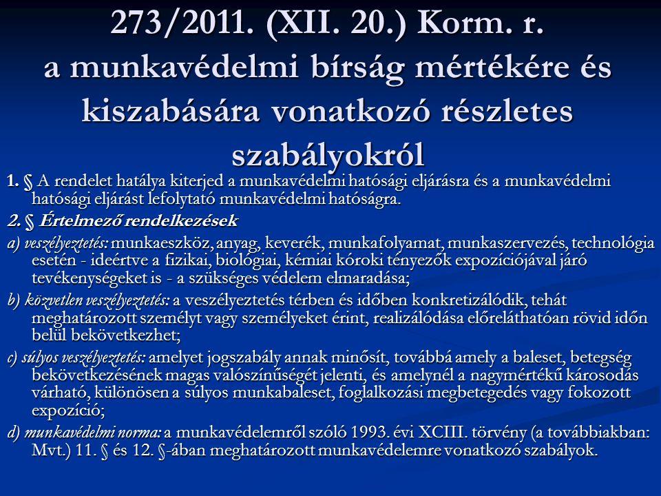 273/2011.(XII. 20.) Korm. r.