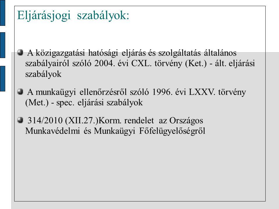 Eljárásjogi szabályok: A közigazgatási hatósági eljárás és szolgáltatás általános szabályairól szóló 2004.