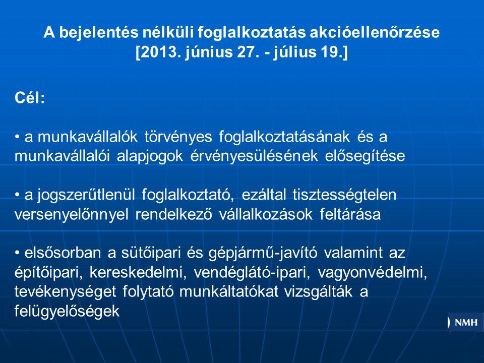 A bejelentés nélküli foglalkoztatás akcióellenőrzése [2013.