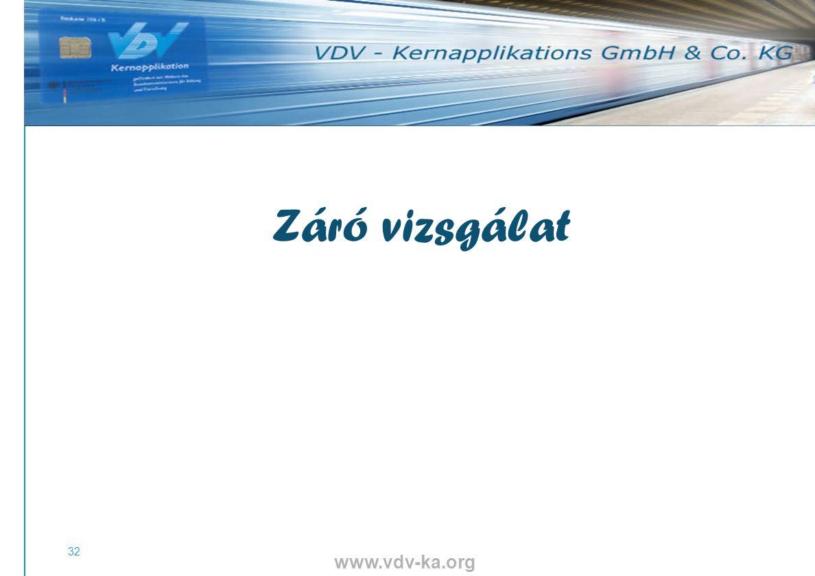 www.vdv-ka.org 32 Záró vizsgálat 111111111111111111111111