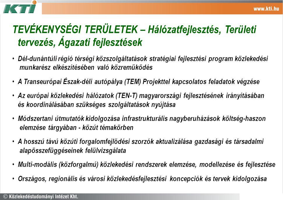 Dél-dunántúli régió térségi közszolgáltatások stratégiai fejlesztési program közlekedési munkarész elkészítésében való közreműködés A Transeurópai Ész