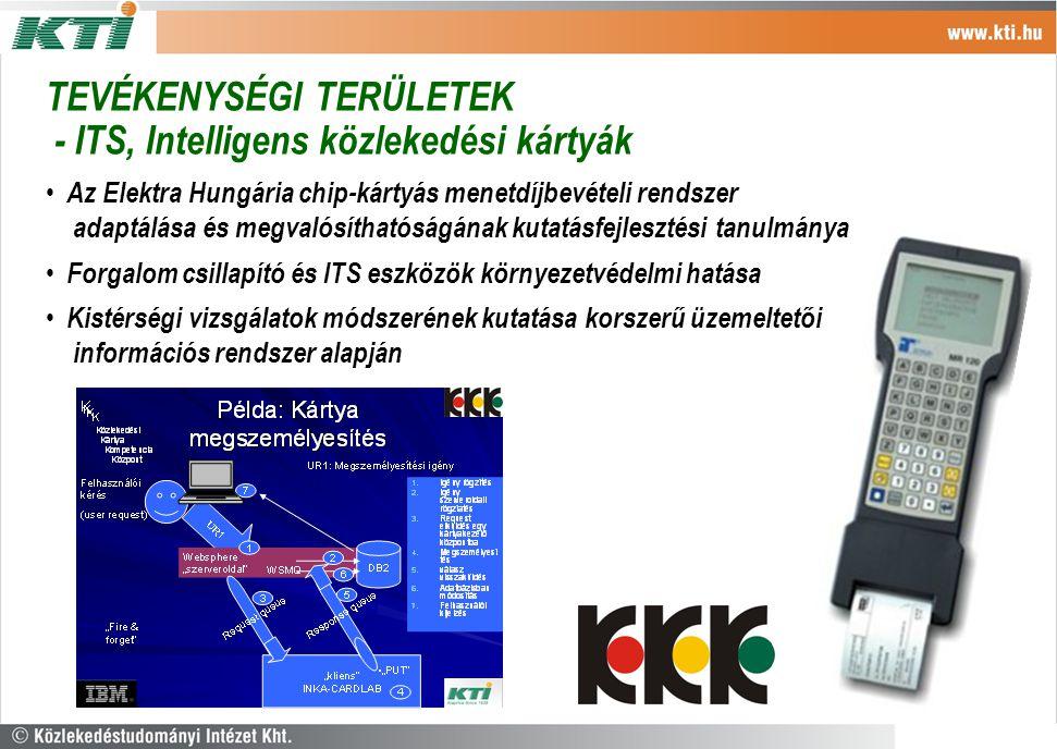 Az Elektra Hungária chip-kártyás menetdíjbevételi rendszer adaptálása és megvalósíthatóságának kutatásfejlesztési tanulmánya Forgalom csillapító és IT