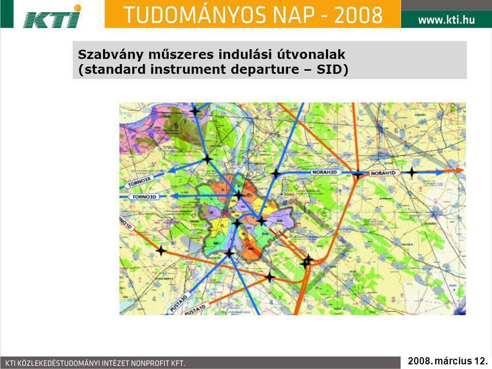 Szabvány műszeres indulási útvonalak (standard instrument departure – SID) 2008. március 12.