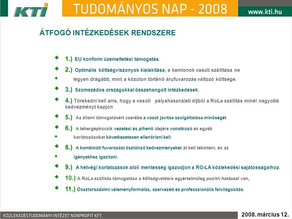  1.)  1.) EU konform üzemeltetési támogatás.