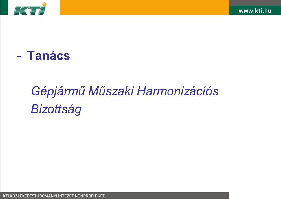-Tanács Gépjármű Műszaki Harmonizációs Bizottság