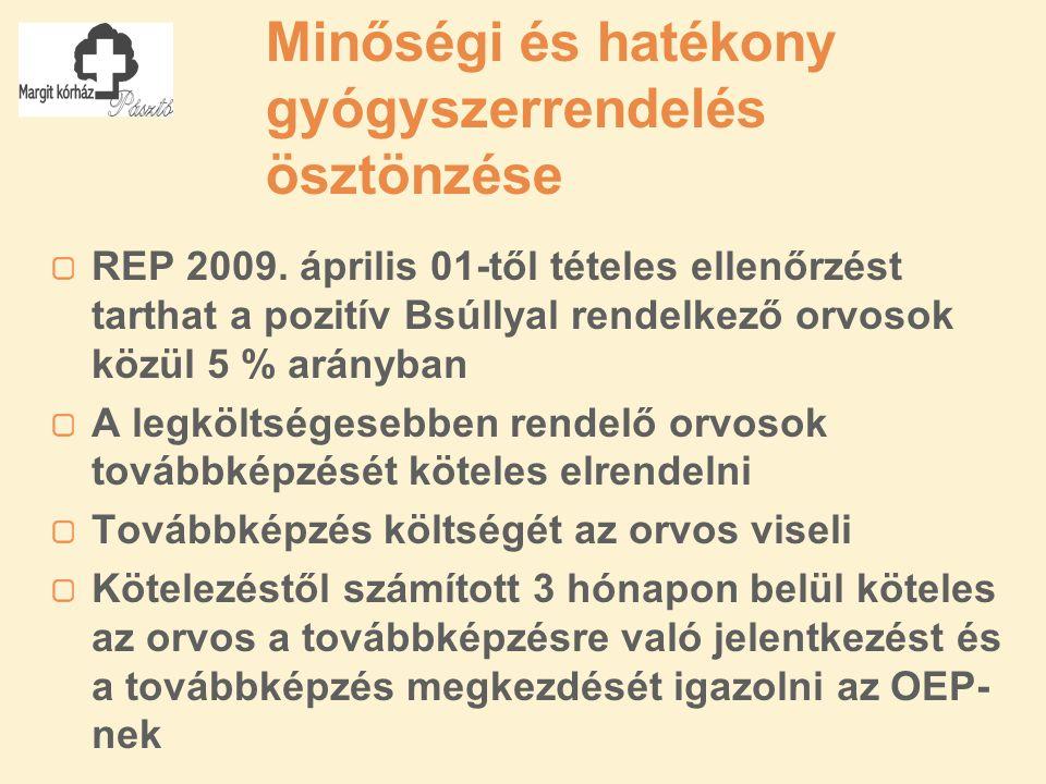Minőségi és hatékony gyógyszerrendelés ösztönzése REP 2009.