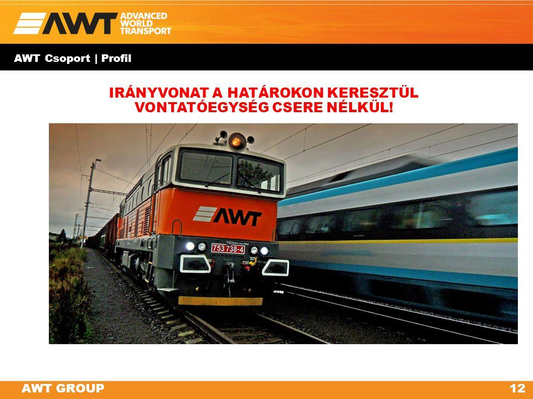 AWT GROUP AWT Csoport | Profil 12AWT GROUP IRÁNYVONAT A HATÁROKON KERESZTÜL VONTATÓEGYSÉG CSERE NÉLKÜL!