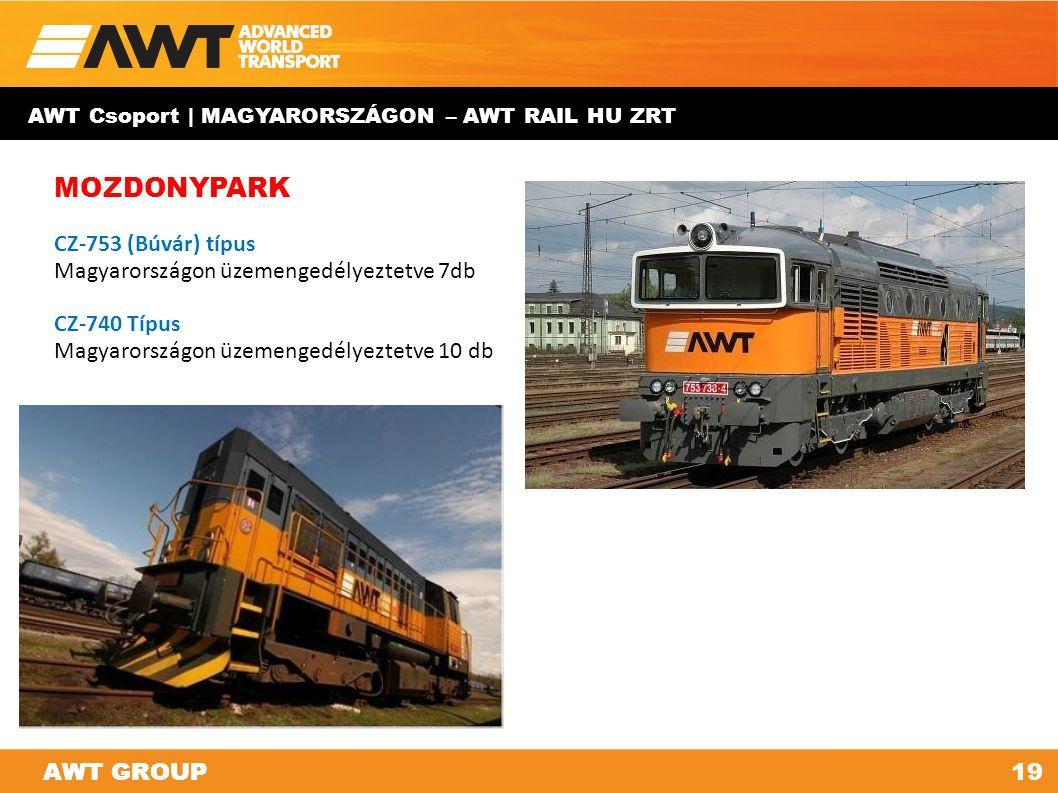 AWT GROUP19AWT GROUP AWT Csoport | MAGYARORSZÁGON – AWT RAIL HU ZRT MOZDONYPARK CZ-753 (Búvár) típus Magyarországon üzemengedélyeztetve 7db CZ-740 Típ
