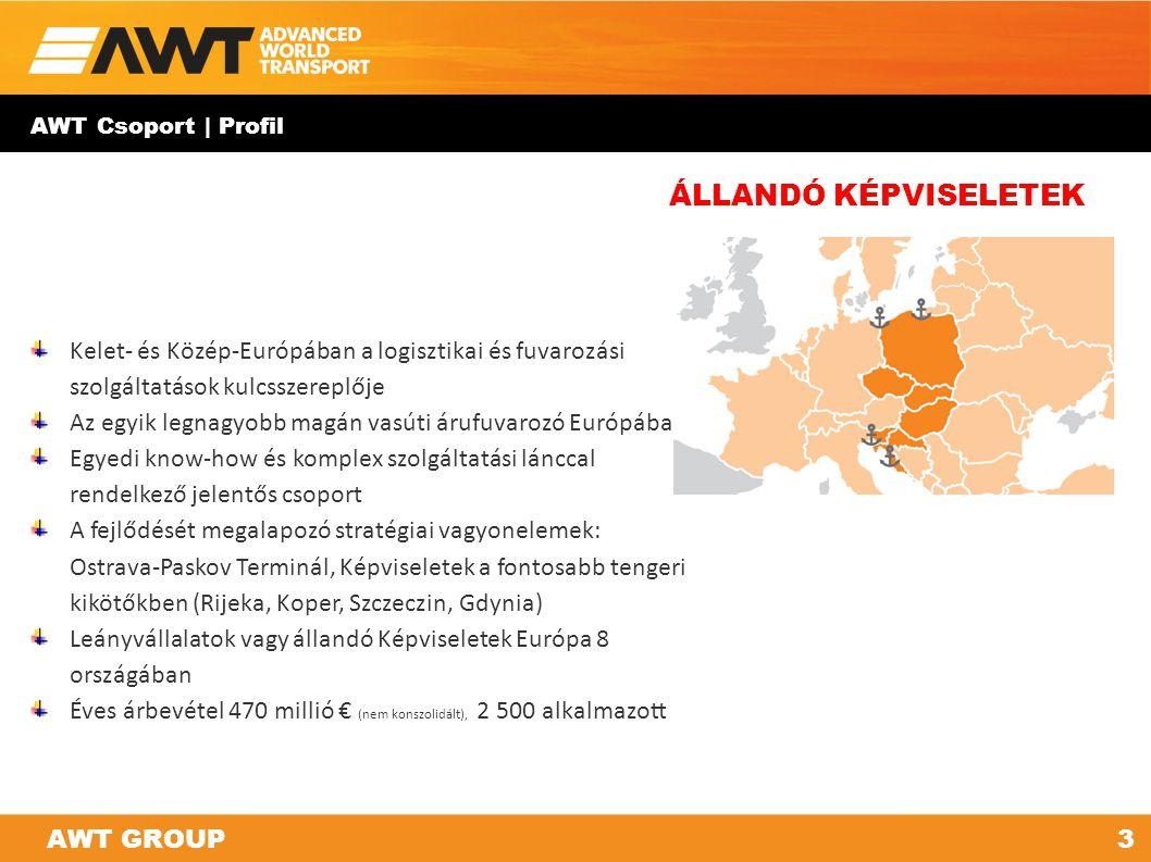 AWT Csoport | Profil Kelet- és Közép-Európában a logisztikai és fuvarozási szolgáltatások kulcsszereplője Az egyik legnagyobb magán vasúti árufuvarozó