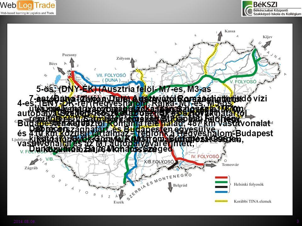 7-es: (Duna folyó) a Duna Ausztriától Romániáig terjedő vízi útja, mely magyarországi szakaszának hossza 378 km repülőtér (3): Sármellék, emellett Bud
