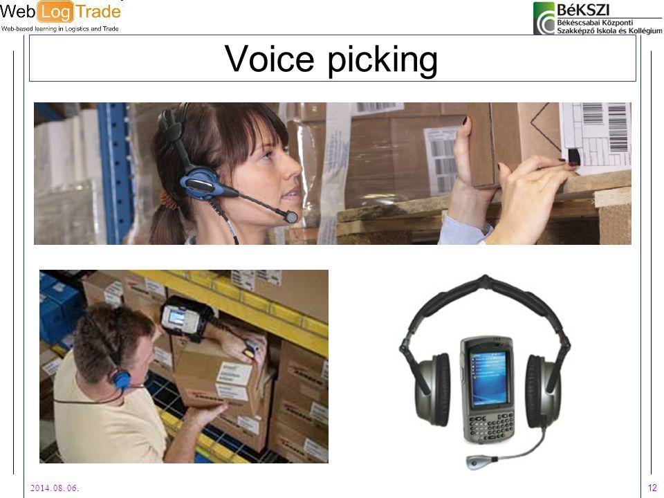 2014. 08. 06. 12 Voice picking