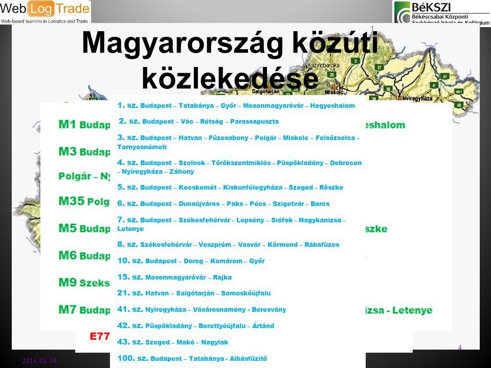 Magyarország közúti közlekedése 2014. 08. 06. 4
