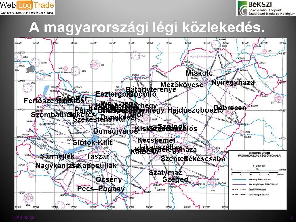 A magyarországi légi közlekedés.2014. 08. 06.