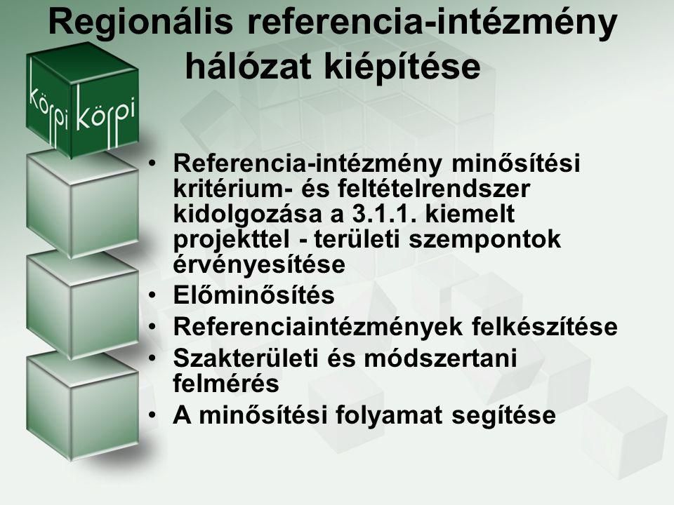 Megvalósítandó tevékenységek Folyamatos együttműködés a TÁMOP 3.1.1.