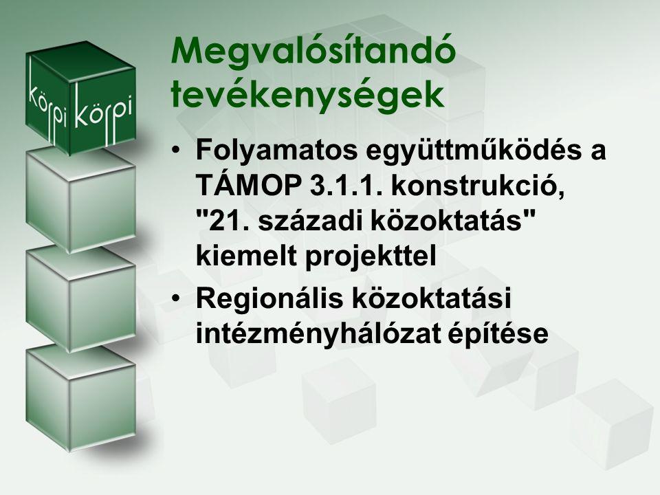 Együttműködés a TÁMOP 3.1.1.konstrukció, 21.