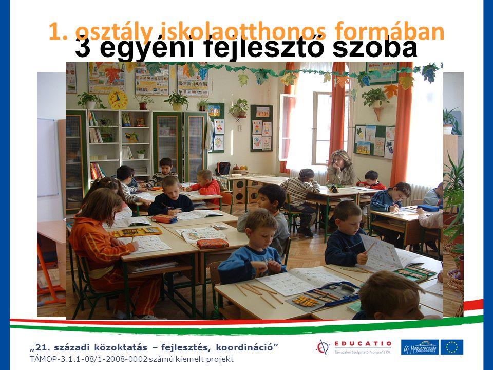 """""""21. századi közoktatás – fejlesztés, koordináció"""" TÁMOP-3.1.1-08/1-2008-0002 számú kiemelt projekt 3 egyéni fejlesztő szoba 1. osztály iskolaotthonos"""