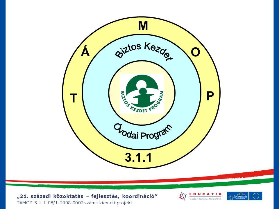"""""""21. századi közoktatás – fejlesztés, koordináció"""" TÁMOP-3.1.1-08/1-2008-0002 számú kiemelt projekt Pályázati konstrukciók SZMMOKMEÜMOKM T Á M O P 5."""