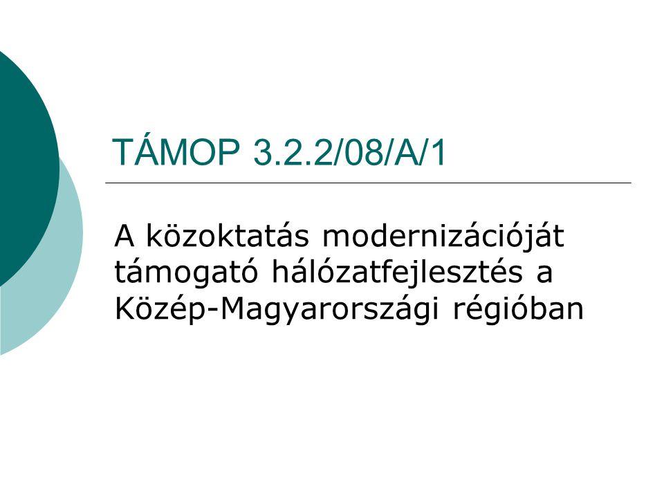 TÁMOP 3.2.2/08/A/1 A közoktatás modernizációját támogató hálózatfejlesztés a Közép-Magyarországi régióban