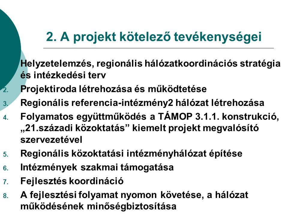 2. A projekt kötelező tevékenységei 1.