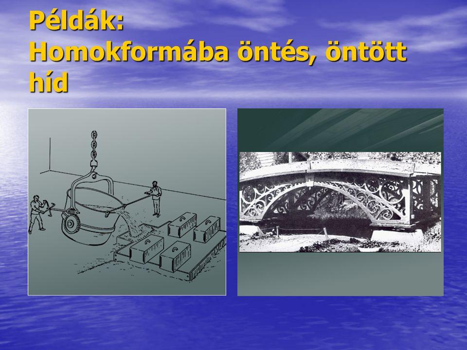 Példák: Homokformába öntés, öntött híd