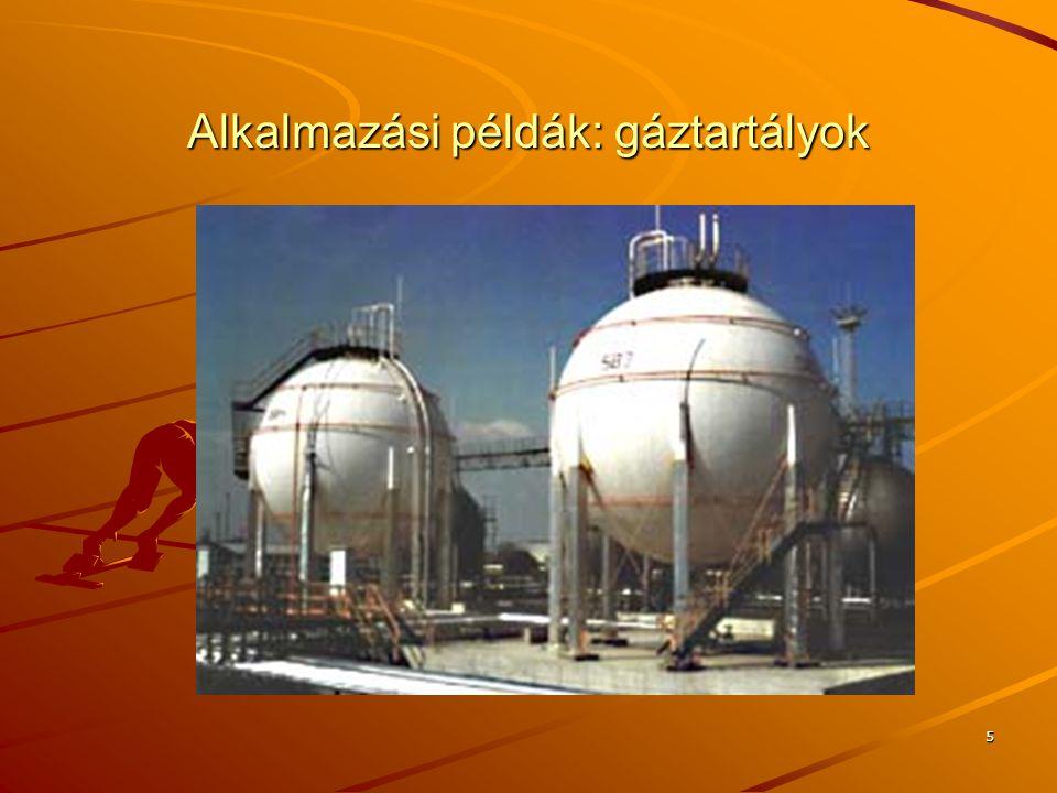 5 Alkalmazási példák: gáztartályok