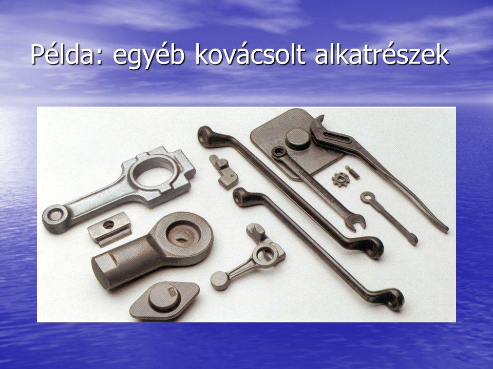 Példa: egyéb kovácsolt alkatrészek