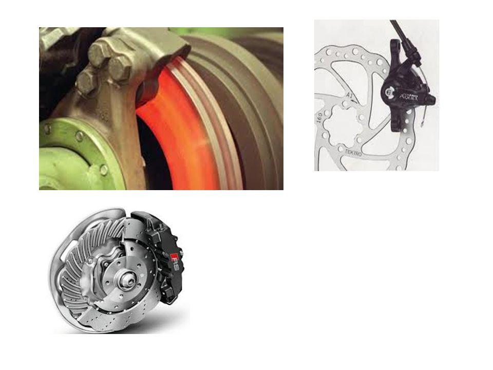 Hátrányai A tárcsafék hátrányai a dobfékekhez képest:  nagy pedálerőre van szükség, mivel belsőáttéte kicsi, szervo rásegítőt igényel,  rögzítőfékként csak körülményesen alkalmazható,  az ébredő nagyobb hőmérséklet miatt, magasabb forráspontú fékfolyadékkal üzemeltethető,  nagyobb nyomástűrésű betétanyagot igényel,  a súrlódó felületek közé könnyebben jut nedvesség, szennyeződésre érzékeny,  üzemi nyomása: 50-80 bar  gyorsabb kopás, rövidebb szervizintervallum,