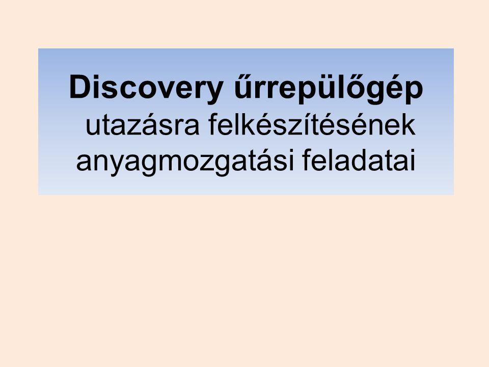 Discovery űrrepülőgép utazásra felkészítésének anyagmozgatási feladatai