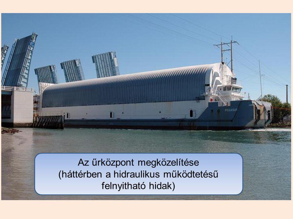 Indítási előkészületek. A teherszállító rakodótér: Ø 4,6 m L = 18,3 m Terhelés: 29,5 t