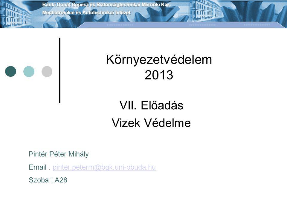 Környezetvédelem 2013 VII.