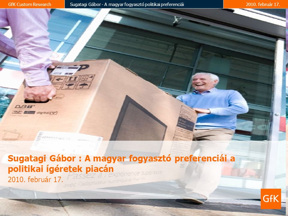 GfK Custom ResearchSugatagi Gábor - A magyar fogyasztó politikai preferenciái2010.