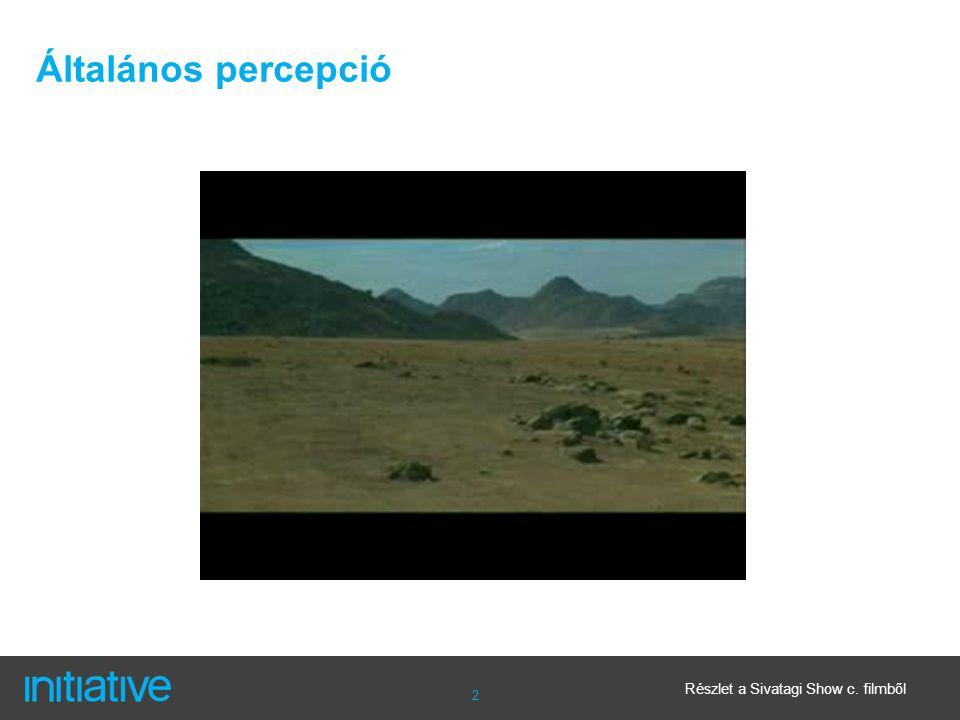 2 Általános percepció Részlet a Sivatagi Show c. filmből