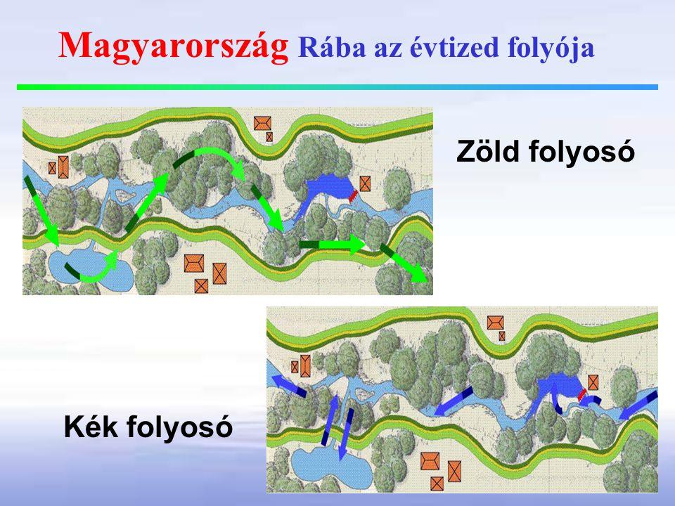 Magyarország Rába az évtized folyója Zöld folyosó Kék folyosó