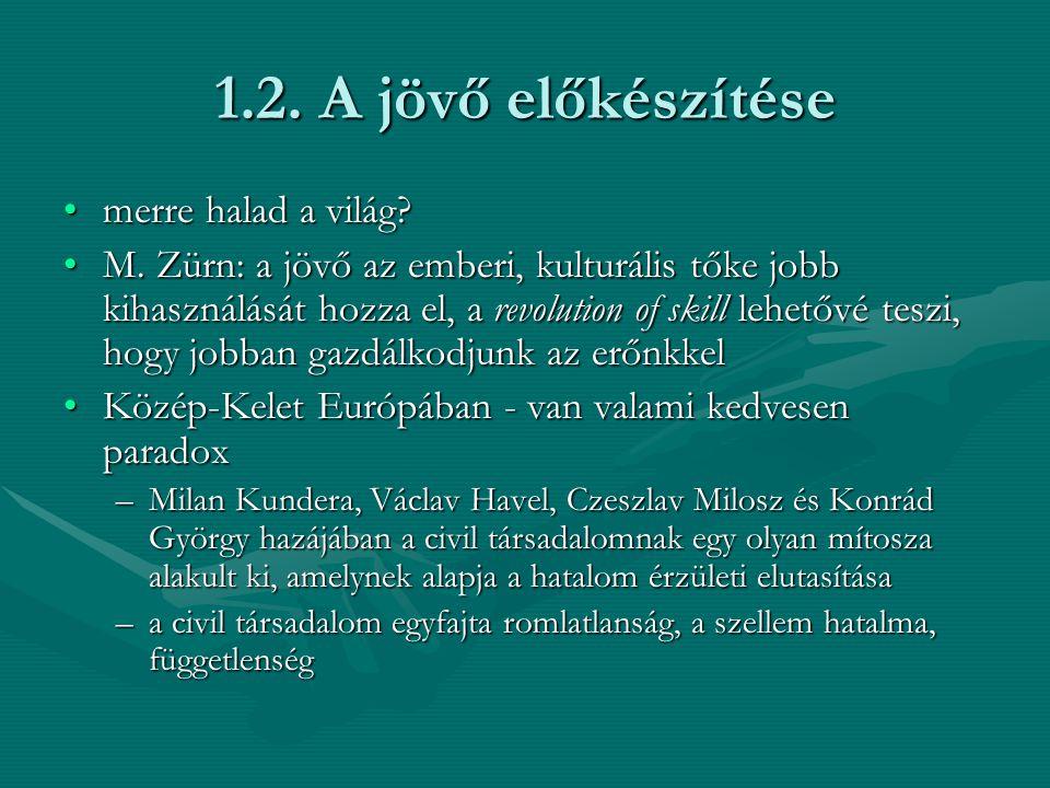 1.3.Civilek helye a civil szférát értelmezik hatalmi pillérként is (G.