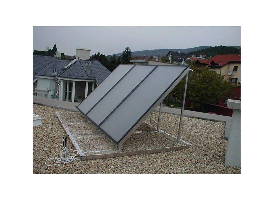 Tetőre: Alacsony dőlésszögű tetőre: Tetőbe: Falra:Lapostetőre tálcával: Lapostetőre gerendával: Szabadtérbe tálcával: Szabadtérbe betoncsővel: Telepítési lehetőségek