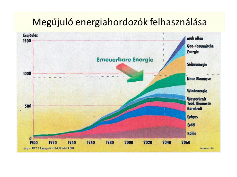 Napenergia - ár-apály energia - geotermikus energia - vízenergia - szélenergia - biomassza felhasználása Napenergia közvetlen felhasználása: - passzív