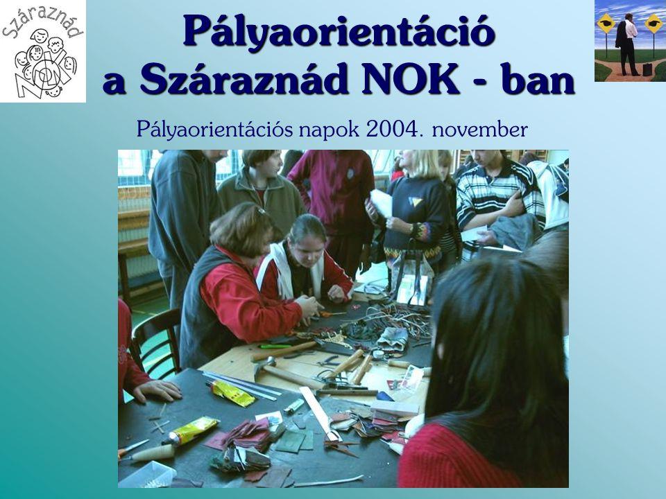 Pályaorientáció a Száraznád NOK - ban Pályaorientációs napok 2004. november