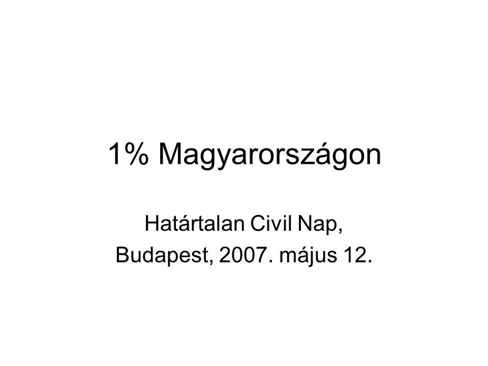 1% Magyarországon Határtalan Civil Nap, Budapest, 2007. május 12.