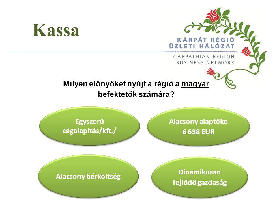 Kassa Milyen előnyöket nyújt a régió a magyar befektetők számára.