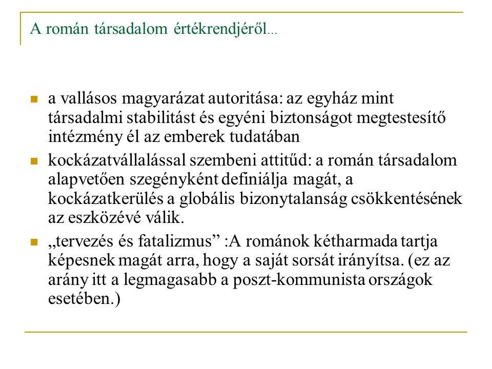 A román társadalom értékrendjéről...