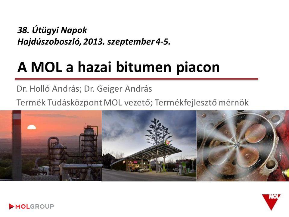 TARTALOM 1.A MOL, bitumengyártás 2. Bitumen gyártási és eladási tendenciák 3.
