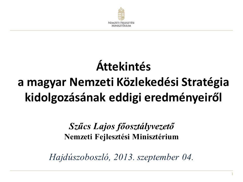 1 Szűcs Lajos főosztályvezető Nemzeti Fejlesztési Minisztérium Hajdúszoboszló, 2013.
