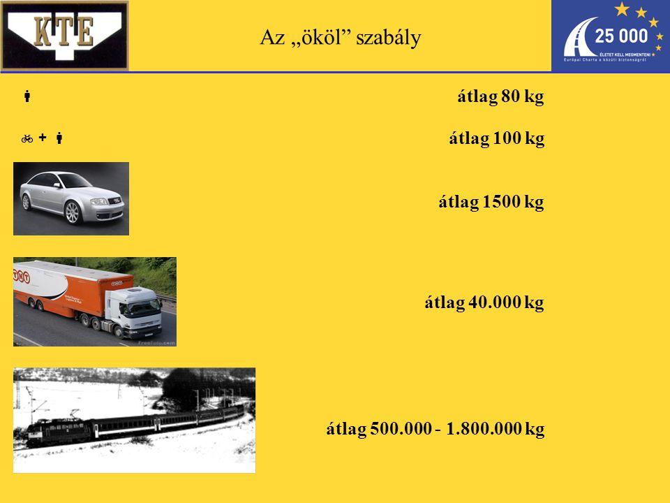 """Az """"ököl szabály  átlag 1500 kg átlag 40.000 kg átlag 500.000 - 1.800.000 kg átlag 80 kg  +  átlag 100 kg"""